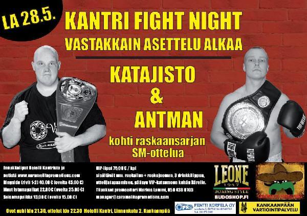 Ottelujuliste: KANTRI FIGHT NIGHT - VASTAKKAINASETTELU ALKAA